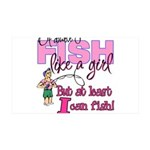 At Least I can Fish! 35x21 Wall Decal