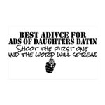 Dad's Dating Advice 35x21 Wall Decal