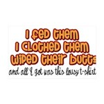 I Wiped Their Butts 35x21 Wall Decal