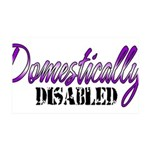 Domestically Disabled 35x21 Wall Decal