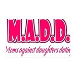 M.A.D.D. 35x21 Wall Decal