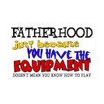Fatherhood - Equipment 35x21 Wall Decal