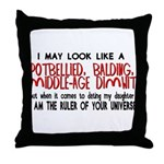 Ruler of Your Universe Throw Pillow