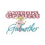 World's Greatest Godmother 35x21 Wall Decal