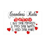 Grandma's Rules 35x21 Wall Decal
