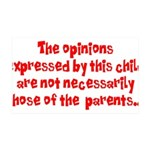 Child's Opinion 35x21 Wall Decal