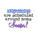 Scheduled Naptimes 35x21 Wall Decal