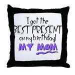 best present dad.png Throw Pillow