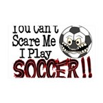 Soccer - No Fear 35x21 Wall Decal
