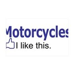 Motorcycles I like this. 35x21 Wall Decal