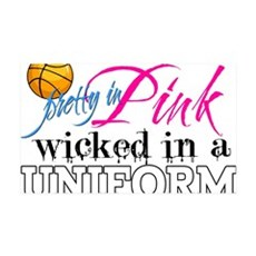 Pretty In Pink Basketball Wall Decal