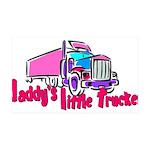 Daddy's Little Trucker 35x21 Wall Decal