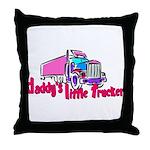 Daddy's Little Trucker Throw Pillow