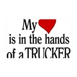 My Heart in the Hands Trucker 35x21 Wall Decal