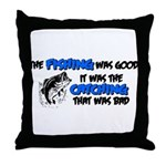 badcatchblack.png Throw Pillow