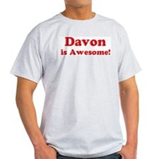 Davon is Awesome Ash Grey T-Shirt