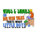 Frogs & Snails 35x21 Wall Decal