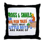 Frogs & Snails Throw Pillow