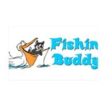 fishinbuddy.png 35x21 Wall Decal