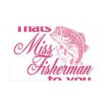 Miss Fisherman 35x21 Wall Decal