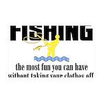 Fishing Fun 35x21 Wall Decal