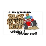 Play In The Dirt 35x21 Wall Decal