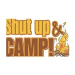 shut up and camp.png 35x21 Wall Decal