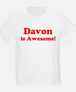 Davon is Awesome Kids T-Shirt