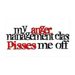 Anger Management Class 35x21 Wall Decal