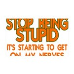 Getting On My Nerves 35x21 Wall Decal