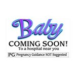 Baby - Coming Soon! 35x21 Wall Decal