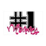 #1mommy.png 35x21 Wall Decal