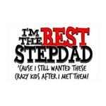 Best Stepfather 35x21 Wall Decal