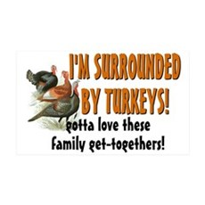 Surrounded by Turkeys Wall Sticker