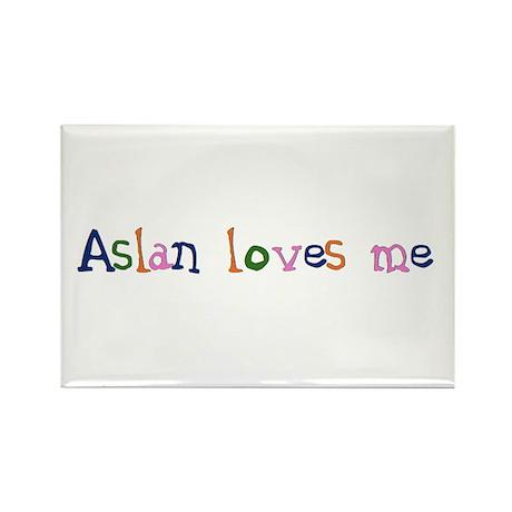 Aslan Loves Me, children's design Rectangle Magnet