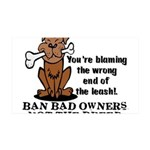 Ban Bad Owners 35x21 Wall Decal