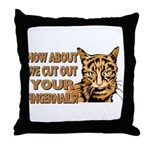 CUT OUT YOUR FINGERS.png Throw Pillow