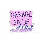 Garage Sale Addict 35x21 Wall Decal