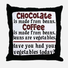 Chocolate & Coffee Throw Pillow