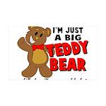 Big Teddy Bear 35x21 Wall Decal