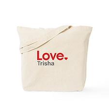 Love Trisha Tote Bag