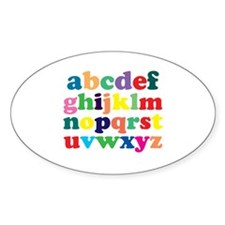 Colorful Alphabet Decal