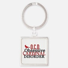 Funny Cardinal Square Keychain