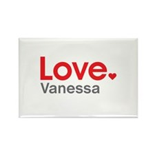 Love Vanessa Rectangle Magnet