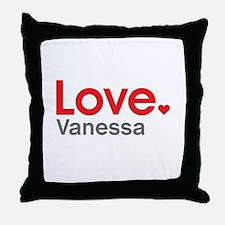Love Vanessa Throw Pillow