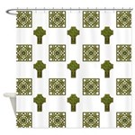 Ornate Irish Cross Shower Curtain