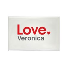 Love Veronica Rectangle Magnet (100 pack)