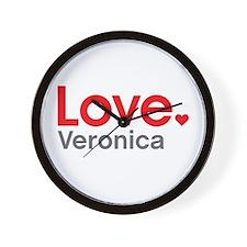 Love Veronica Wall Clock