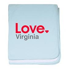 Love Virginia baby blanket