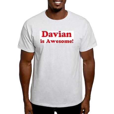 Davian is Awesome Ash Grey T-Shirt
